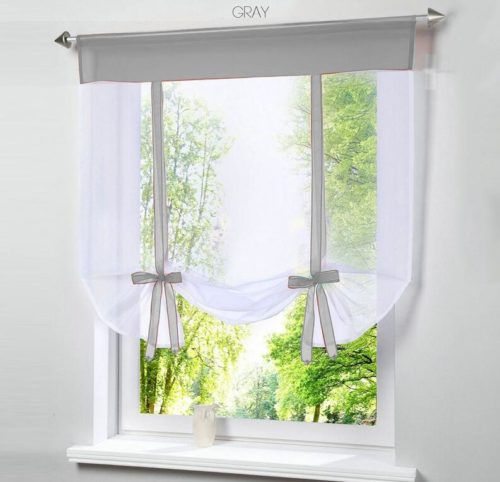Short Curtain Tulle Window Drape