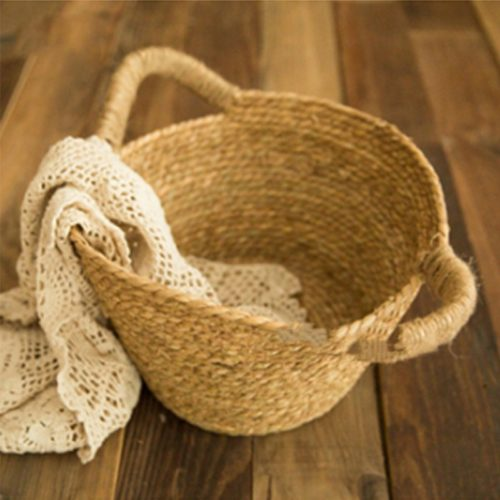 Hand Woven Basket Photography Prop