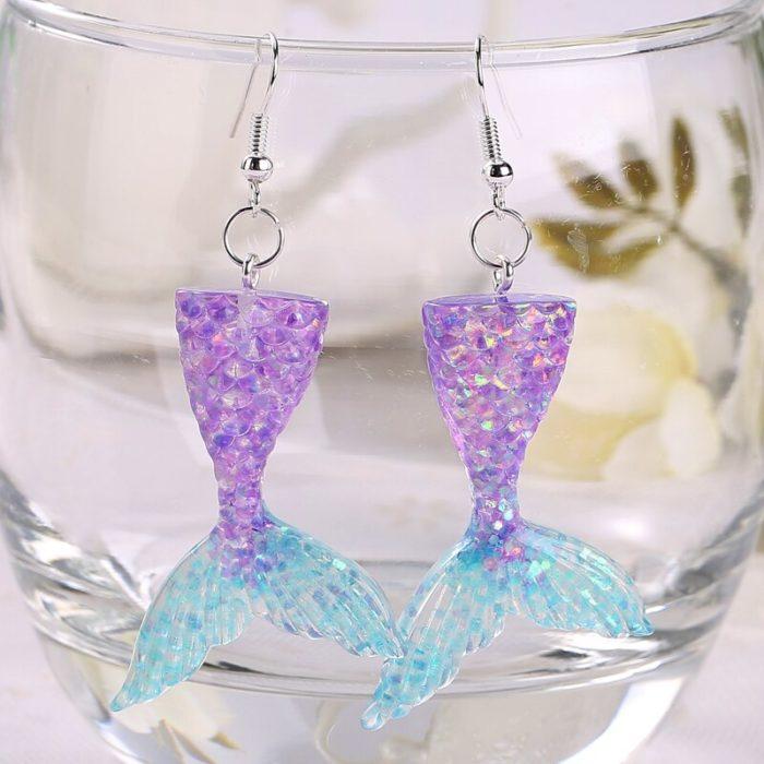 Mermaid Earrings Girls Fashion Jewelry