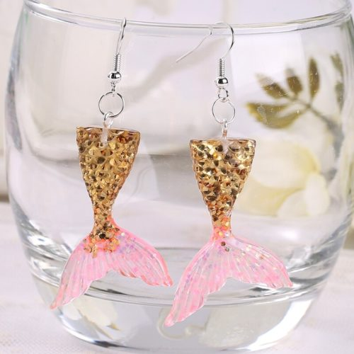 Mermaid Earrings Girls Fashion Jewelry