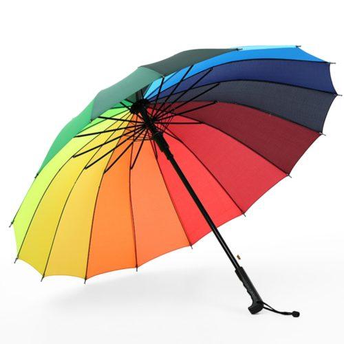 Long Umbrella 16 Ribs Windproof Umbrella