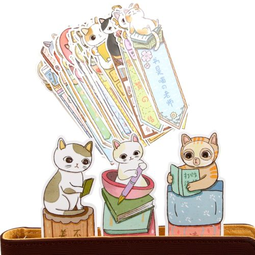Cat Bookmarks Cute Animal Bookmarks (30pcs)