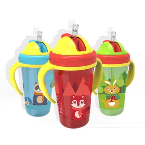 No Spill Sippy Cup With Double Handle