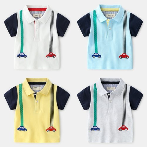 Boys Polo Shirt Cotton Shirt For Kids