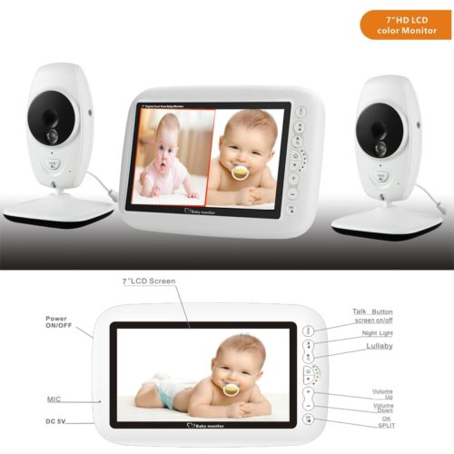 Split Screen Baby Monitor Wireless Cam