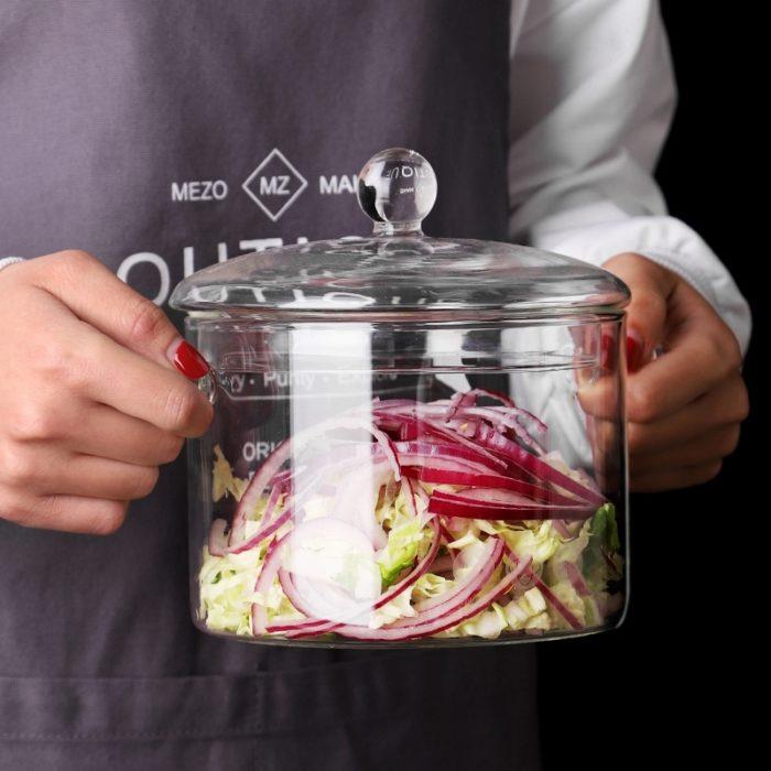 Glass Cooking Pot Cookware