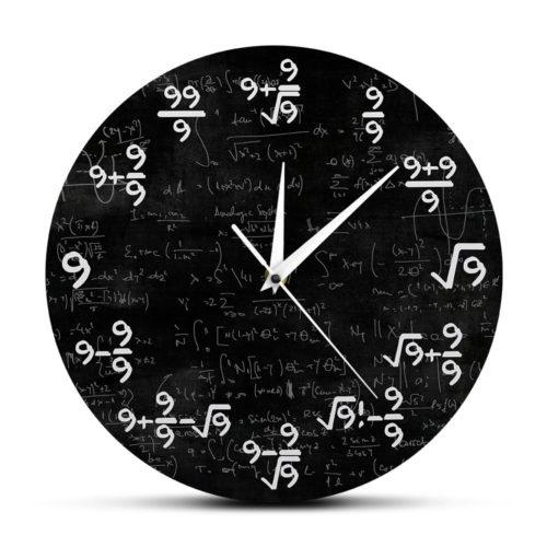 Math Clock Equations Wall Clock