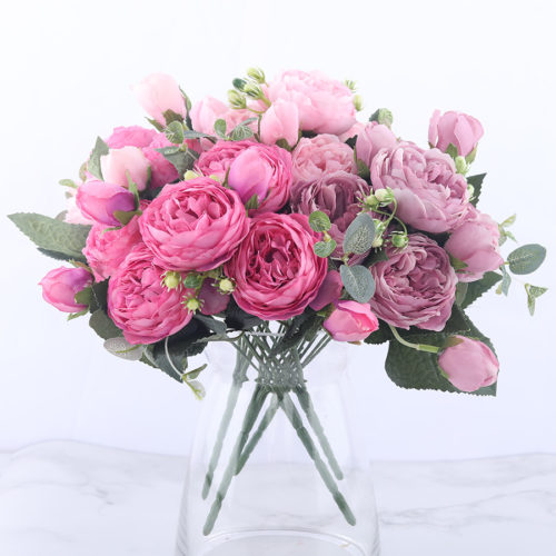Artificial Peonies Decorative Flowers