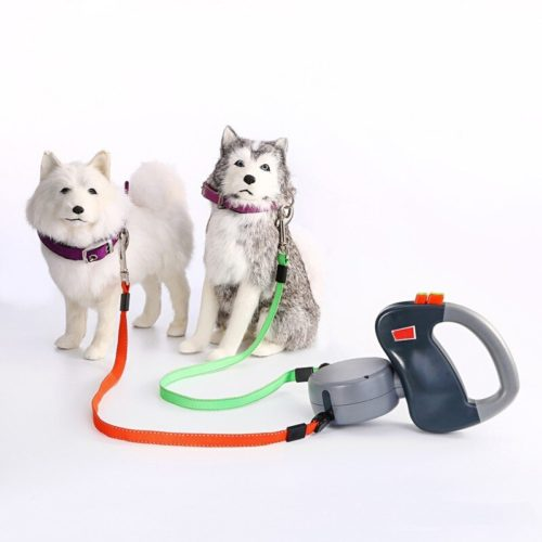 Dual Dog Leash Retractable Cord
