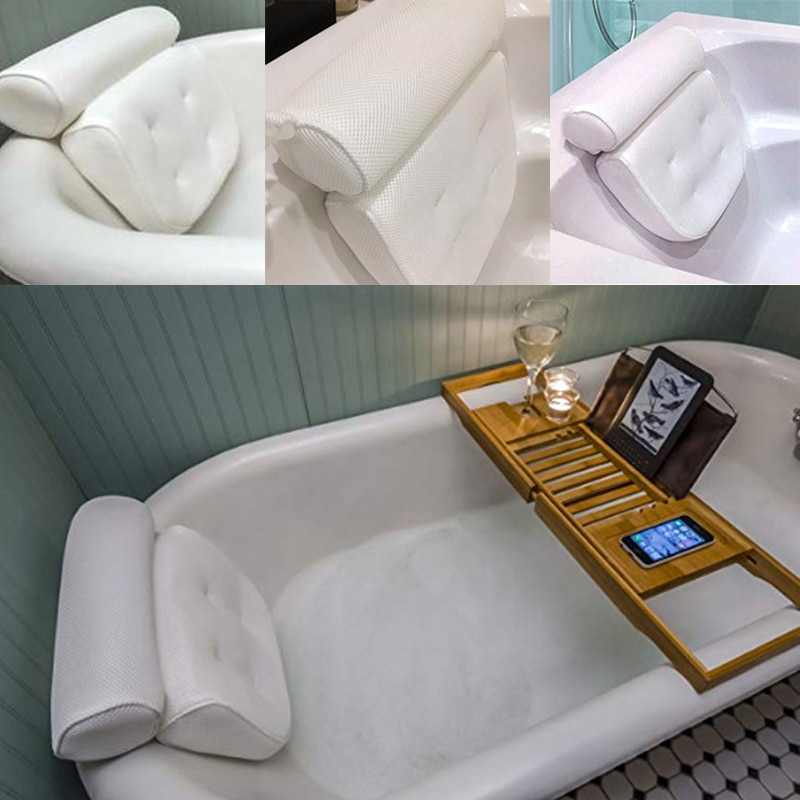 Tub Pillow Headrest with Suction Cups