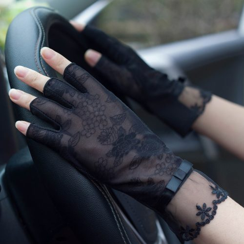 Lace Gloves Ladies Half Finger Gloves
