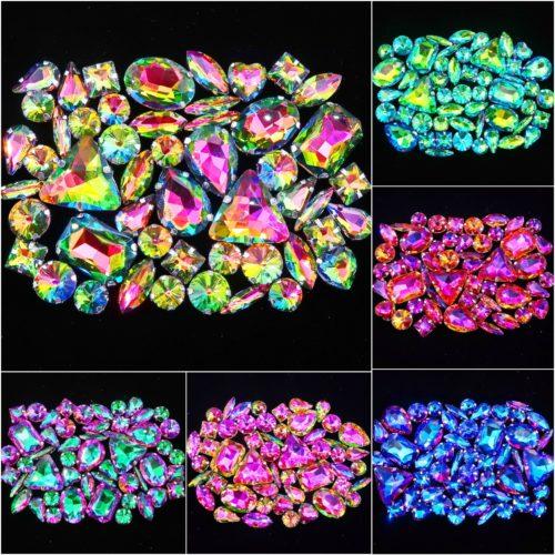 Crystal Rhinestones Flatback Jewels 50pcs/pack