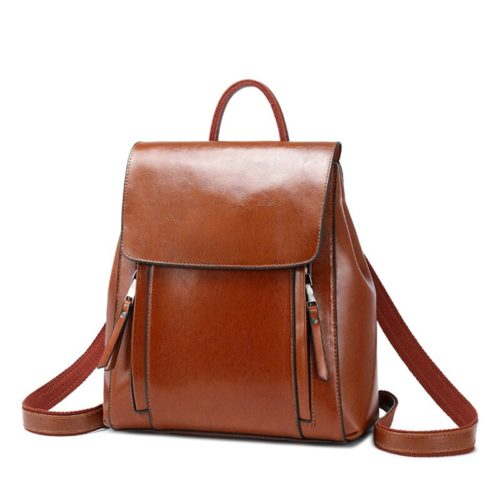 Vintage Leather Backpack Ladies Rucksack