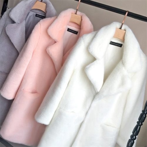 Faux Fur Jacket Stylish Coat