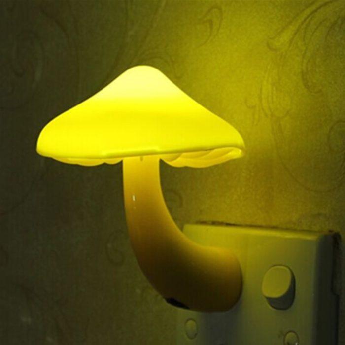 Mushroom Night Light LED Wall Socket Light