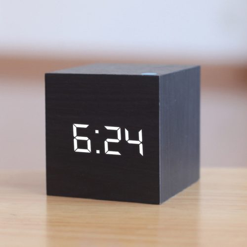 Wooden Digital Clock LED Alarm