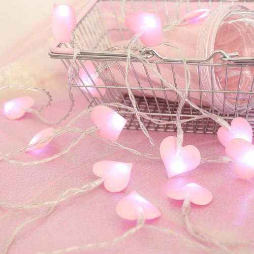 Heart String Lights Battery Operated