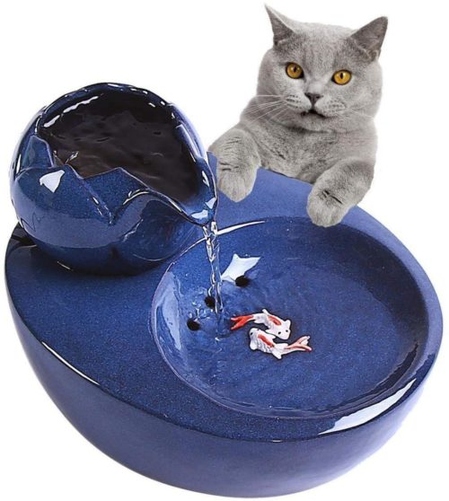 Ceramic Cat Water Fountain Automatic Device