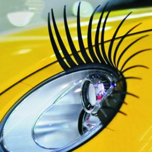 Headlight Eyelashes DIY Car Accessory (2PCS)