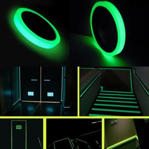 Fluorescent Tape Glow Emergency Sticker