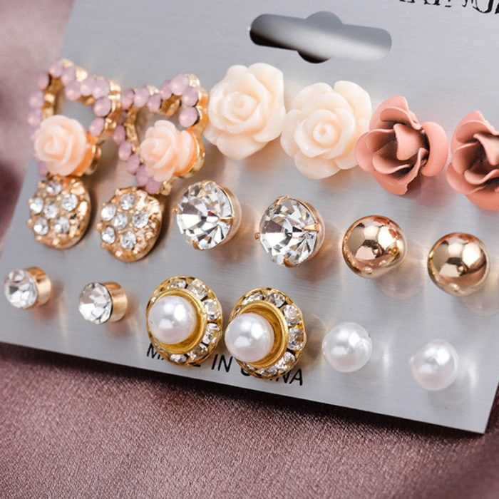 Earrings Set Fashionable Accessory