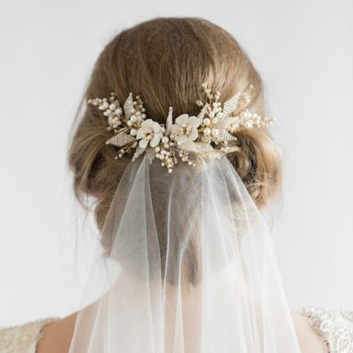 Veil Comb Wedding Hair Accessory