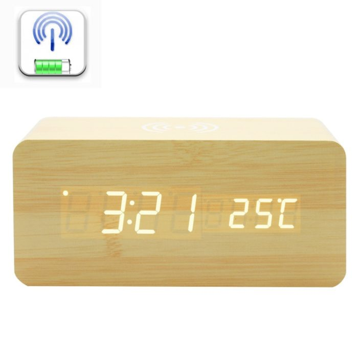 Wireless Charging Alarm Clock Phone Pad