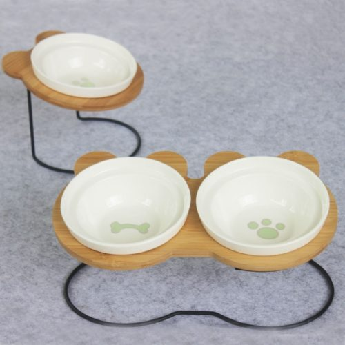 Ceramic Pet Bowl Feeder Stand
