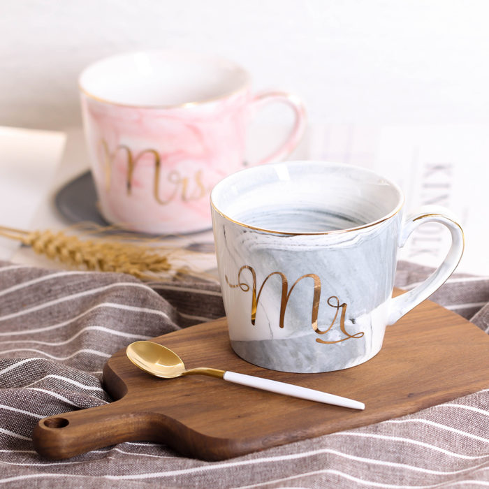 Mr and Mrs Mugs Couples Ceramic Cups
