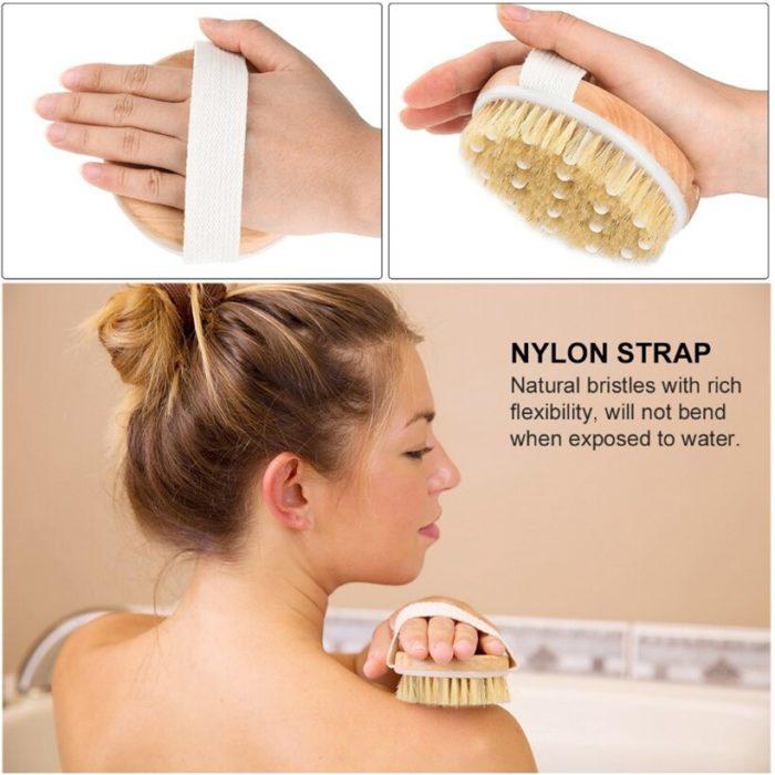 Body Scrub Brushes Natural Bristle Brushes