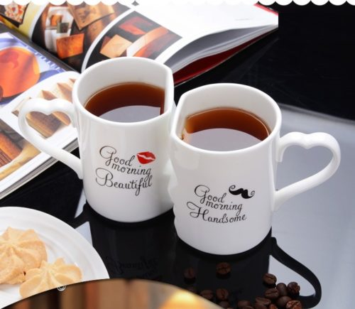Couple Mugs Ceramic Cups Set (2Pcs)