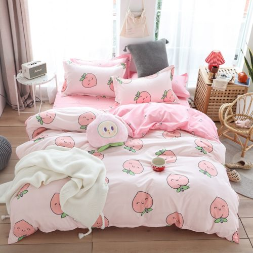 Printed Bed Sheet Fruit Pattern