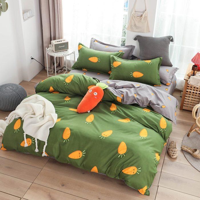 Printed Bed Sheet Fruit Pattern