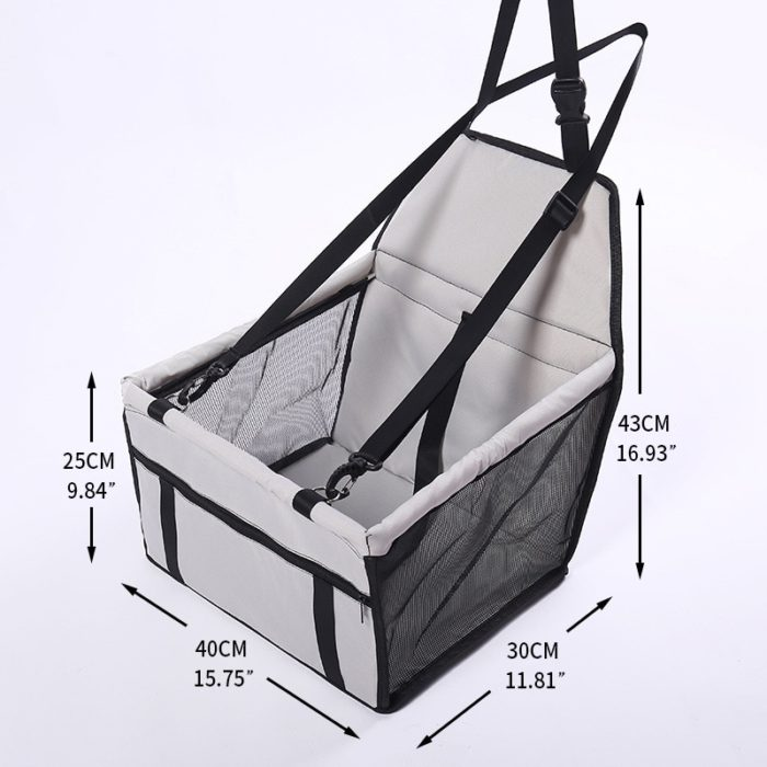 Dog Car Carrier Foldable Seat Carrier