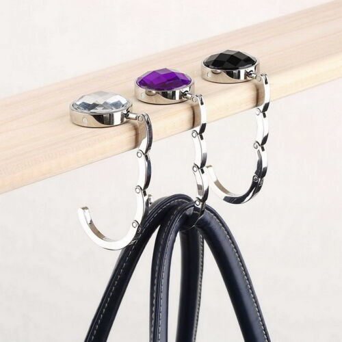 Purse Hanger for Table with Gem Stone