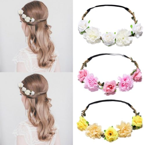 Bridal Flower Crown Hair Accessory