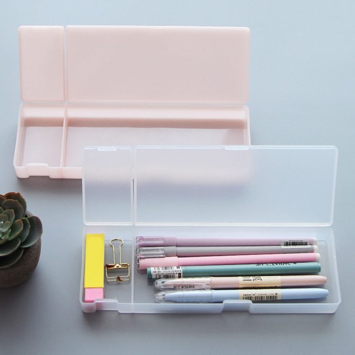 Plastic Pencil Box Frosted Case
