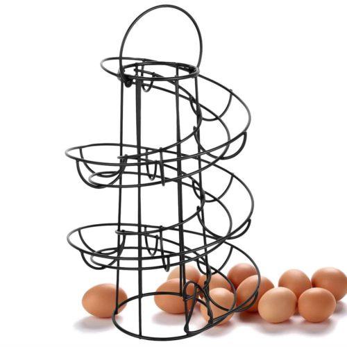 Egg Skelter Spiral Dispenser Rack