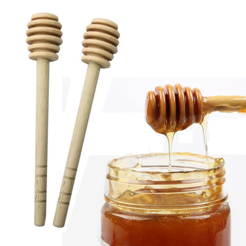 Honey Spoon Wood Jar Stirrer