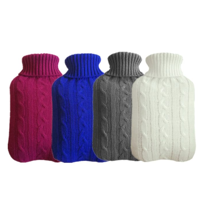 Hot Water Bottle Cover Knitted Design