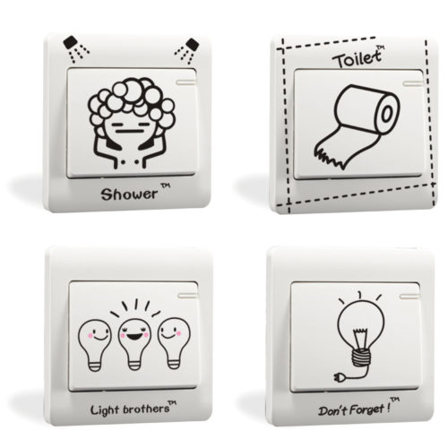 Light Switch Sticker Self-Adhesive Decal