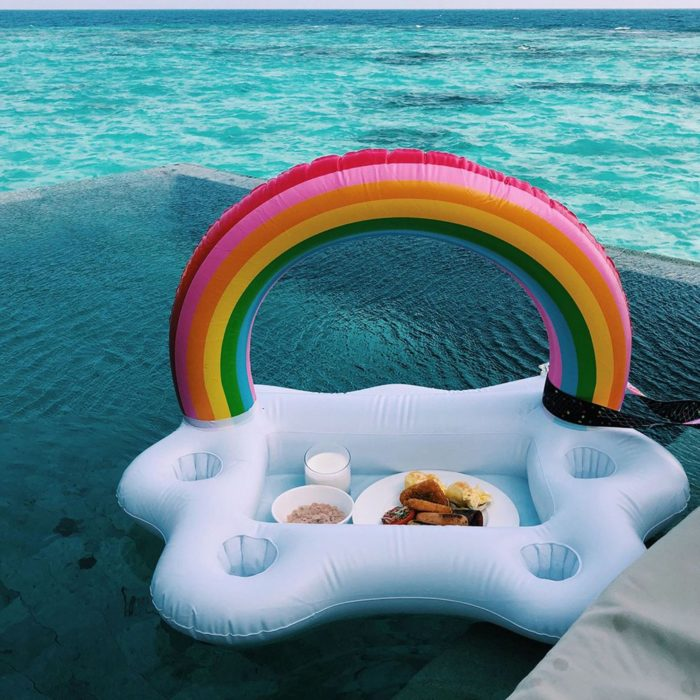 Floating Cup Holder Inflatable Tray
