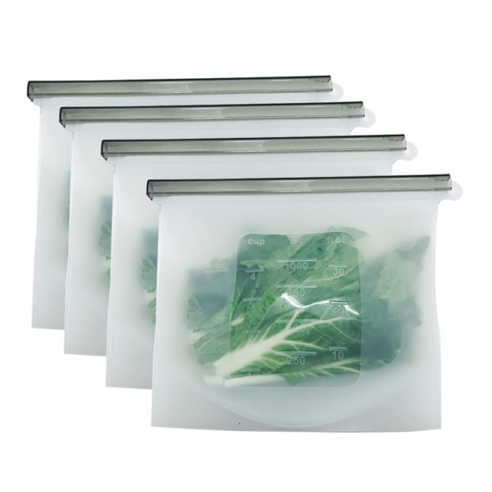 Reusable Freezer Bags 8PCS Silicone Pouch