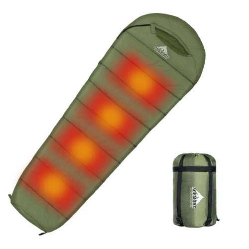 Heated Sleeping Bag Camping Gear