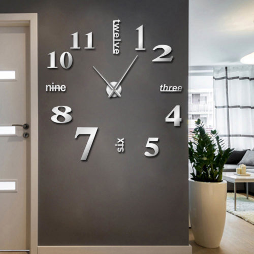 Frameless Wall Clock 3D Surface