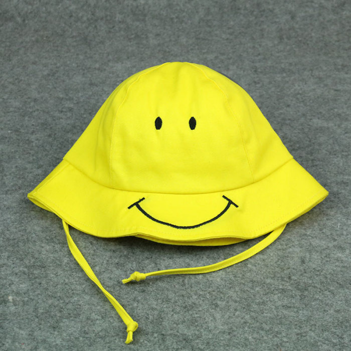 Kids Bucket Hat Yellow Sun Cap