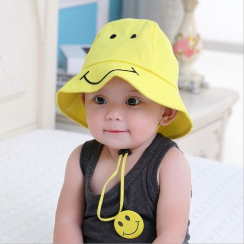 Kids Bucket Hat Yellow Sun Cap