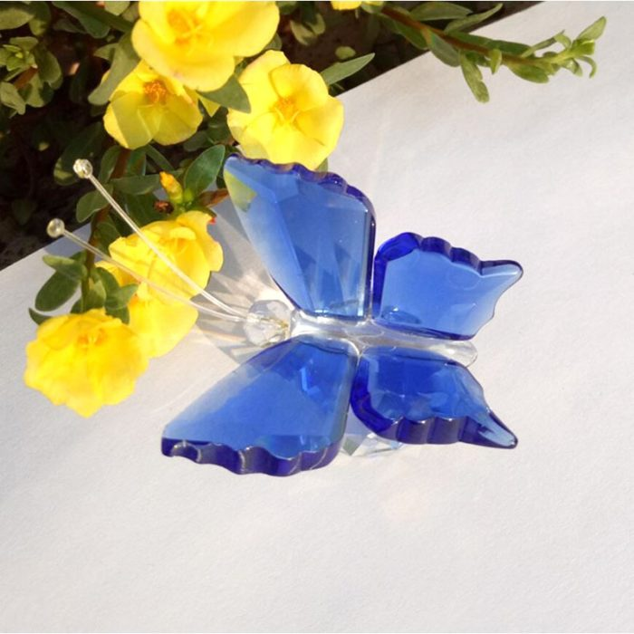 Glass Butterfly Paperweight