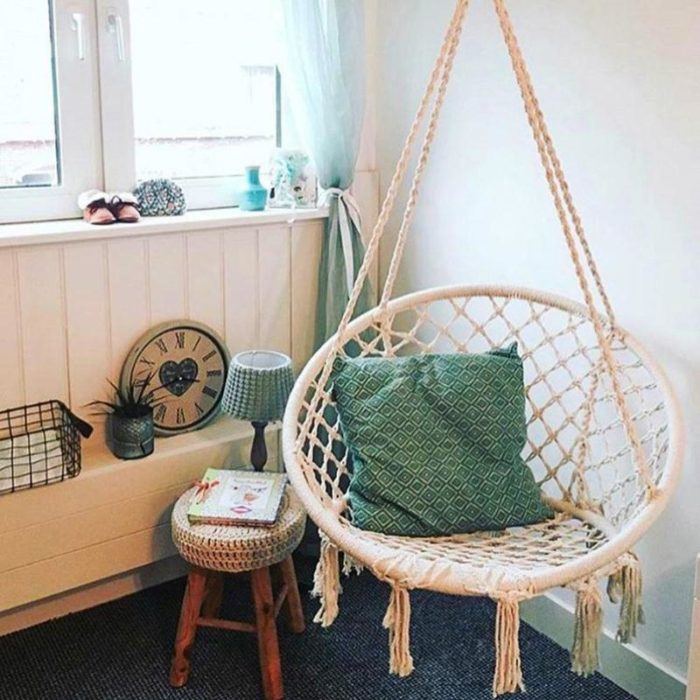Hanging Rope Chair Cotton Hammock
