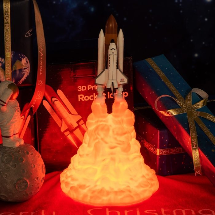 Rocket Lamp Space Shuttle Night Light